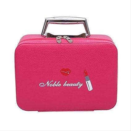 Estuche de maquillaje Cosméticos Estuche de belleza Organizador Regalo de cumpleaños Bolsa de maquillaje de viaje portátil Estuche de almacenamiento con cremallera Estados Unidos Rojo: Amazon.es: Belleza
