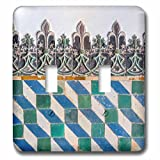 3dRose lsp_227831_2 Portugal, Sintra National Palace, Geometric Ceramic Tile Mural Toggle Switch, Mixed