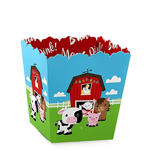 Farm Animals - Party Mini Favor Boxes - Baby Shower or Birthday Party Treat Candy Boxes - Set of 12 by Big Dot of Happiness
