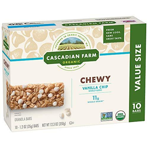 (Cascadian Farm Organic Vanilla Chip Chewy Granola Bars, 10 ct, 12.3 oz)
