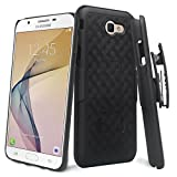 ZASE Case for Samsung J7V Case, Galaxy J7 Prime, J7 Perx, J7 Sky Pro Tough Rugged Holster Armor Slim Protective Case Defender Swivel Belt Clip [Kickstand] Galaxy J7 (2017) (Black Holster Combo Case)