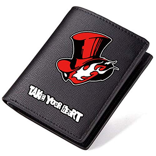Persona 5 Pu Leather Short Billfold Wallet For Wen Women (#2 Red)