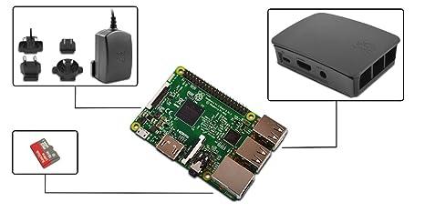 ¡NUEVO! Raspberry Pi 3 Kit - Raspberry Pi 3 con 16 GB tarjeta SD con NOOBS, caja, fuente de alimentación 2.5A de pi3g
