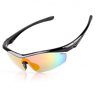 Outdoor peak Sportbrille polarisierten Sonnenbrillen Schutzbrillen fahrradbrille Fünf Paar Linsen (schwarz) j1lX6IamV