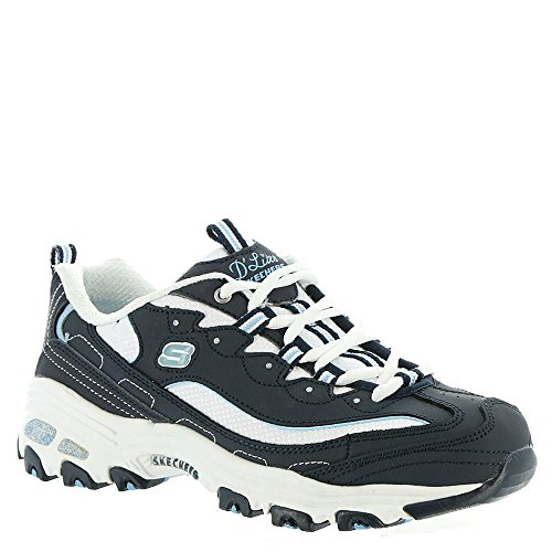 Fan Donna D'lites Blu navy Sneaker Skechers white Biggest AxOqwnECE