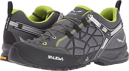 Salewa Unisex Wildfire Pro Approach Shoe, Carbon/Green, 7.5