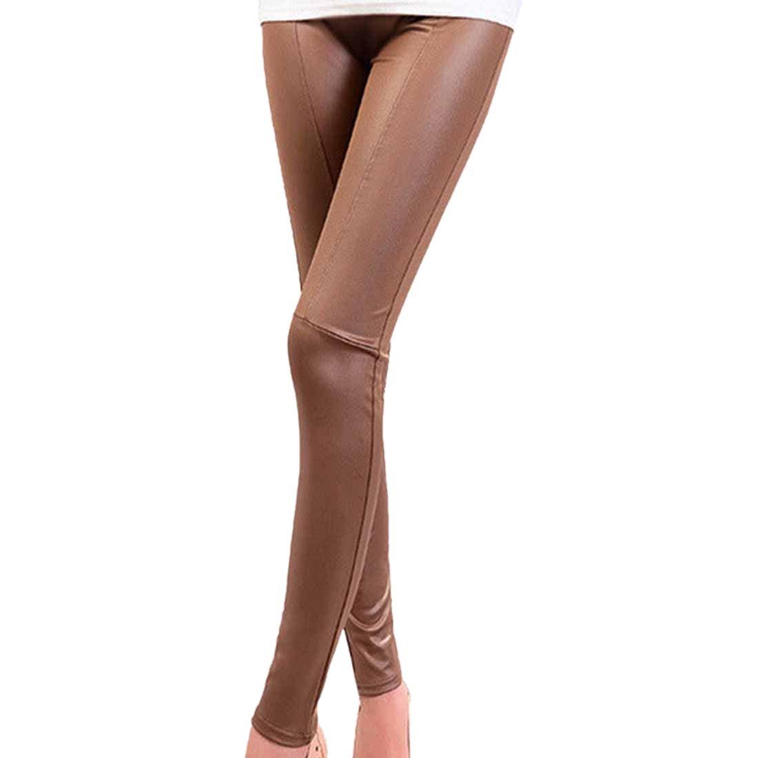 Imitation Leather Women Leggings Slim Legs super Stretch tight pencil Pants Winson