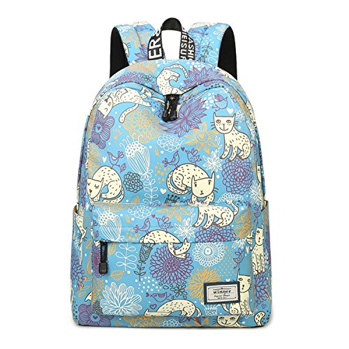Women Backpack Stationery Pattern School Children Schoolbag Back Pack Leisure Korean Ladies Knapsack Laptop Travel Bags Colour 08 15Inches
