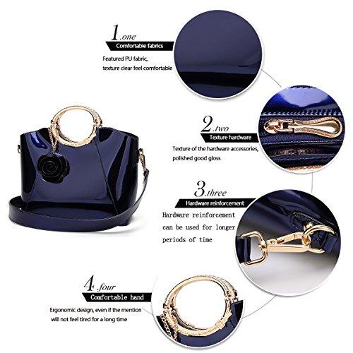 con con Tisdaini tracolla Bleu secchiello vernice messenger in a tracolla luminoso a Borsa spalla 4WqfTI