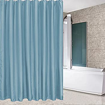 Eforcurtain Small Stall Size Blue Mildew Resistant Shower Curtain 36 X 72  Inches For Boys,