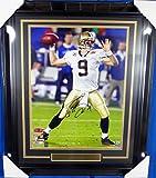 Drew Brees Autographed Framed 16x20 Photo Super Bowl New Orleans Saints Beckett BAS