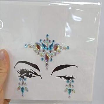 Diamante acrílico cara tatuaje pegatinas pecho pegatinas diy ...