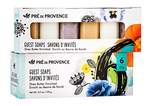 Pre de Provence Luxury Box of Guest Gift Soap, (Set of 6) Classic (Luxury Guest Soaps)