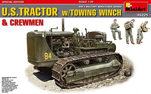 1/35 US military tractor towing with winch soldier for sale  Delivered anywhere in USA