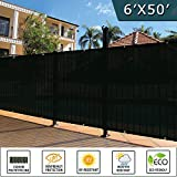 Shade&Beyond 6′ x 50′ Privacy Fence Screen Black Heavy Duty 150 GSM Fencing Mesh Shade Net Cover for Wall Garden Yard Backyard Indoor Outdoor Home Decoration