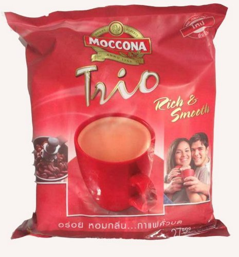 Moccona Trio Rich and Smooth 3in1 27 Sachets Net Wt. 513g Thailand Product
