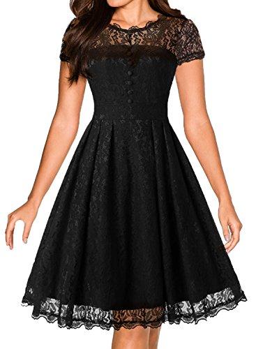 50s style black dress - 7