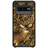 MINITURTLE Compatible with Samsung Galaxy S10 G973 Slim Fitted Dual Layer Protective Case - Deer Hunting Camo