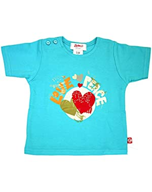 Love and Peace Pool Short Sleeve T-shirt