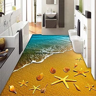 Hwhz Benutzerdefinierte Wandbild Papierrolle Goldene Strand ...