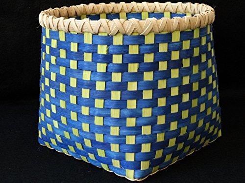Hand Woven Basket in Chartreuse and Bright Turquoise Baskets Hand made baskets in fun colors! Storage Basket
