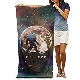 hat pillow Funny Bigfoot Sasquatch Full Moon.PNG Adults Cotton Beach Towel 31' X 51'