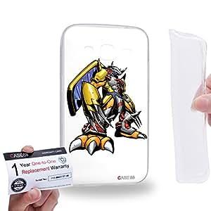 Case88 [Samsung Galaxy Core Prime G360] Gel TPU Carcasa/Funda & Tarjeta de garantía - Digimon Adventure Augmon Greymon MetalGreymon WarGreymon 0938