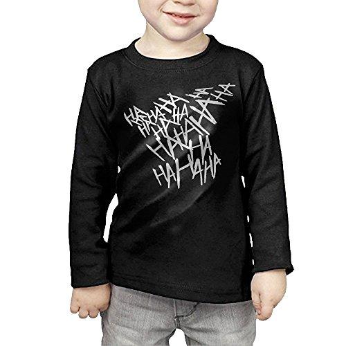 Toddler's Joker Hahaha Laughter Tattoo Long Sleeve T-shirts 3 Toddler -