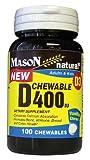 Mason vitamins Vitamin D3 (cholecalciferol) 400 iu Chewable, Vanilla Flavor, 100-count Bottles (Pack of 2) Review