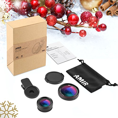 AMIR-2-in-1-Camera-Lens-Kit-with-045X-Wide-Angle-Lens-15X-Macro-Lens-Professional-HD-Mobile-Camera-Lens-Clip-On-Cell-Phone-Lens-with-37MM-Thread-for-iPhone-Samsung-Other-Smartphones