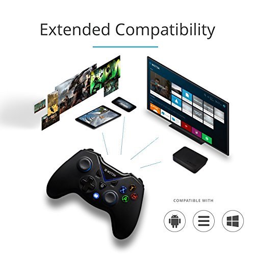 Gamepad / Joystick WeTek for Android systems (smart boxes, mobile phones and smartphones, tablet, mobile gaming), Amazon Fire TV, Gamefly, Steam OS and Windows PC USB 2.0 Bluetooth Wireless Li-Battery by WeTek (Image #1)