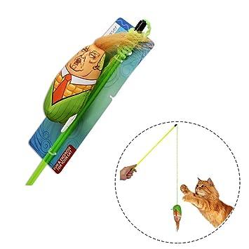FineFun Juguetes para Gatos Campanilla incorporada | Juguetes para Gatitos de maíz de Tronco: Amazon.es: Productos para mascotas