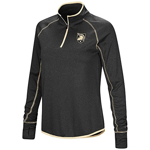 Colosseum Womens Army Black Knights Quarter Zip Long Sleeve Shirt - L