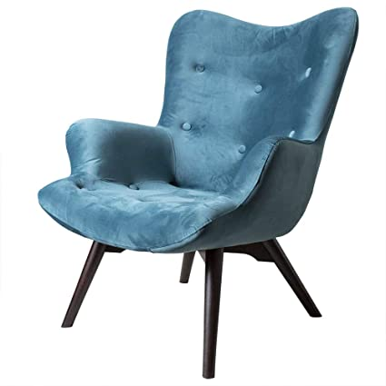 Fantastic At Home Comforts Angel Wingback Velvet Accent Buttoned Gmtry Best Dining Table And Chair Ideas Images Gmtryco