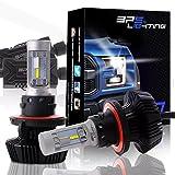 BPS Lighting G7 LED Headlight Bulbs Kit w/Clear Arc Beam 50W 8000LM 6000K - 6500K White Philips Luxeon ZES LED Headlight Conversion for Replace Halogen Bulb Headlights 2 Yr Warranty - (2pcs/set) (H13/9008)
