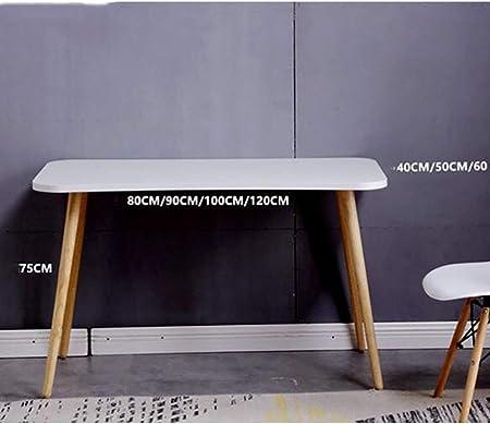 YQ WHJB Simple Escritura Mesas para Ordenador,Inicio Oficina Grande Escritorio De Computadora,Madera Pierna Rectangular Mesa De Estudio Multifunctinal Estación De Trabajo-a 120x60cm(47x24inch)