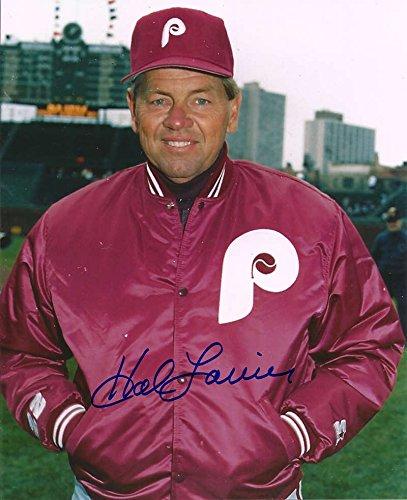 Hal Lanier Autographed Phillies 8 x 10 Photo