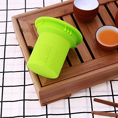 Funnytoday365 Mesh Tea Infuser Reusable Silicone Tea Strainer Filter Loose Tea Leaf Spice Strainer Drinkware Teapot Accessories by FunnyToday365 (Image #2)