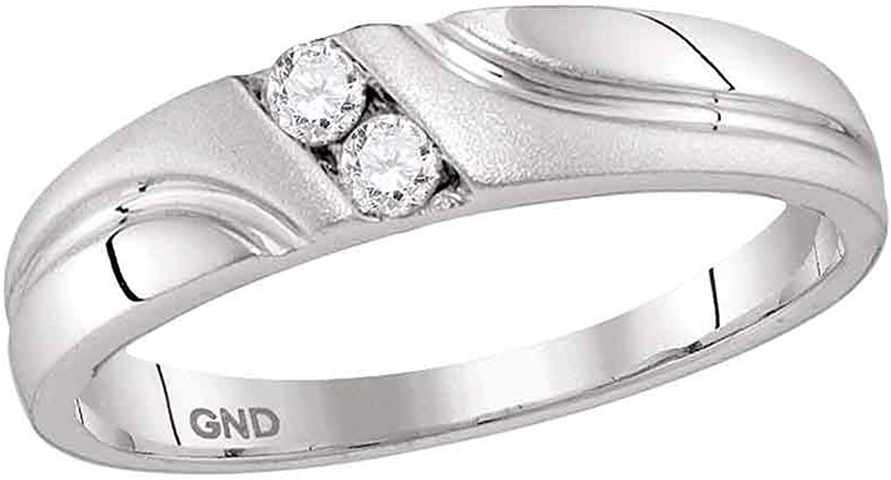 Jewels By Lux Sterling Silver Mens Round Diamond Cluster Ring 1//6 Cttw Ring Size 11