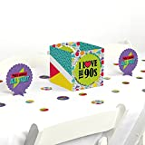 table centerpiece ideas Big Dot of Happiness 90's Throwback - 1990s Party Centerpiece & Table Decoration Kit
