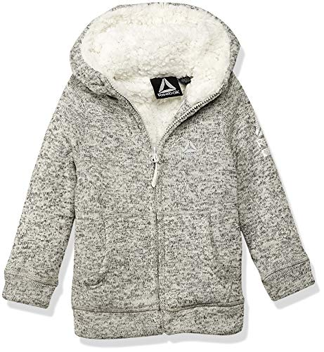 - Reebok Girls' Big' Active Sweater Fleece with Sherpa Jacket, Oatmeal Heather, 7/8