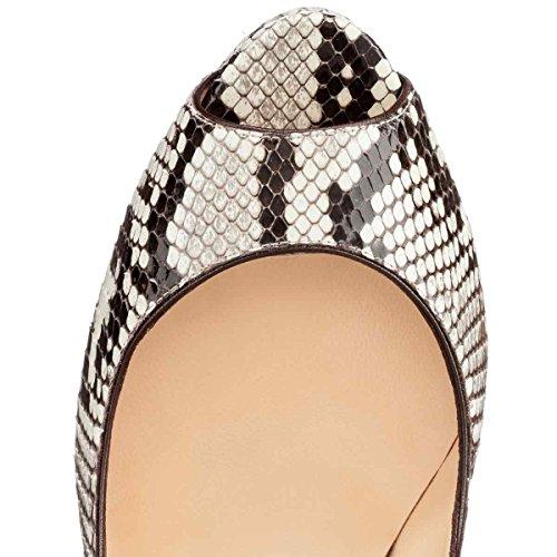 Arc-en-Ciel zapatos de plataforma de la mujer peep toe de tacón alto-zebra-us9