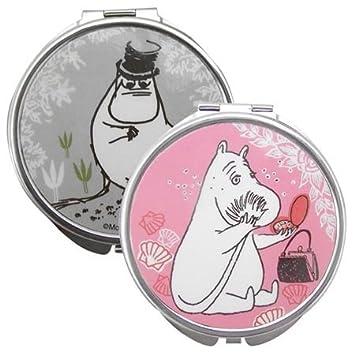 ムーミン コンパクトミラー ムーミンママ&ムーミンパパ Disaster Designs8643【手鏡 ポケットミラー コスメ 化粧