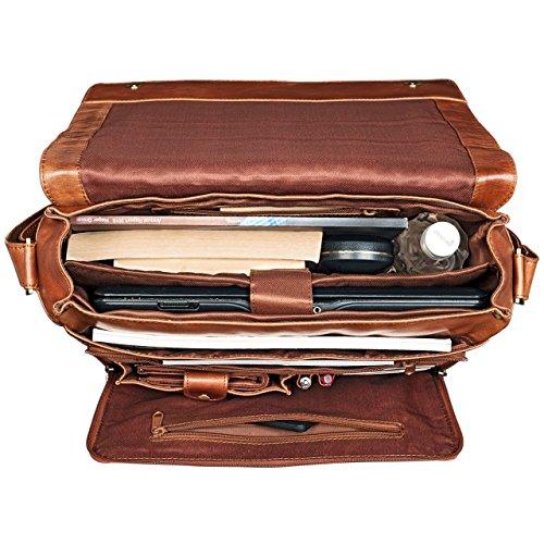 8651458024f ... STILORD  Alex  Vintage Bolso de Bandolera Mujer Hombres Piel 15.6  pulgadas Portatil Cuero Maletín ...