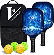Pickleball Paddle, VANSHINIEER Pickleball Paddles Set of 2 with Graphite Face Rackets, Pickle Ball Raquette wi