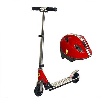 Amazon.com: Ferrari Kids 2 ruedas patinete plegable de ...