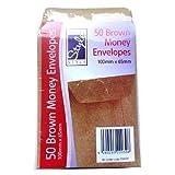 Dinner Money / Seed Envelopes - Pack of 50 Manilla Envelopes - Size 65mm x 100mm