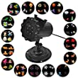 Signstek Film Projector Lights LED Projection Light with 16 Pattern Slide for Christmas, Birthday, Wedding, Halloween, Room, Outer Wall