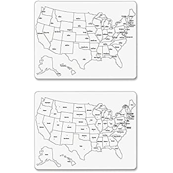 Amazoncom ChenilleKraft Large USA Map Whiteboard CKC - Us map whiteboard