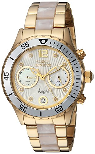Invicta Women's Angel Quartz Watch with Stainless-Steel Strap, Two Tone, 20 (Model: 24702)